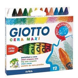 Восковые карандаши утолщенные GIOTTO CERA MAXI 12 цв.