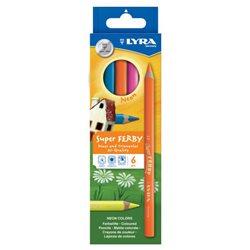 Цветные карандаши 6 цв. Lyra SuperFerby Neon утолщ.