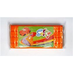 Пластилин SOFTY на восковой основе/ Оранжевый 0,5 кг