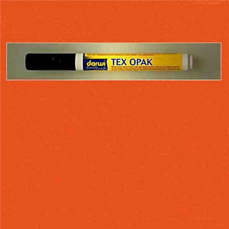 Маркер по текстилю DARWI Tex Opak 6 мл/ Оранжевый/ круглый. наконечн.
