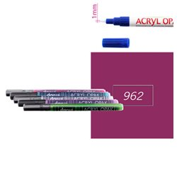 Пурпурный. Акриловый маркер DARWI Acryl Opak 1мм