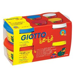 Набор масса для моделирования GIOTTO BEBE Super Modelling Dough 4 шт х 100 мл