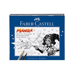 Набор MANGA STARTET SET FABER-CASTELL с комиксами в картон. коробке.