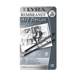 Набор карандашей графитных Lyra Rembrandt Art Design 12 шт.