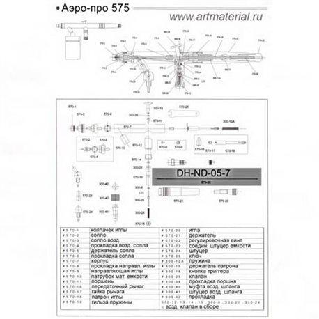 Игла 0.5 mm. для Аэро-Про 575