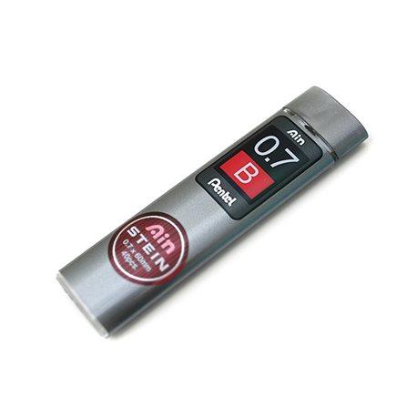 Грифели для карандашей автоматич. Ain Stein 0.7мм. 40шт. B