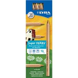 Деревянные карандаши с четырехцветным грифелем Lyra Super Ferby