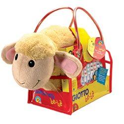 Набор с мягкой игрушкой Овечка GIOTTO be-be 12 фломастеров раскраска в пластик. сумке.