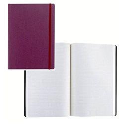 Ноотбук фиолетовый с резинкой А5, 80 листов в матречную точку 85 г/м2
