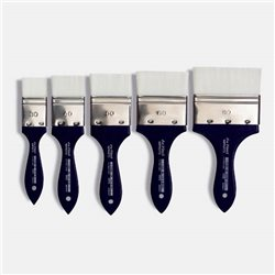 Кисть флейц Da Vinci 5025 IMPASTO/белая синтетика/экстра упругая/№40