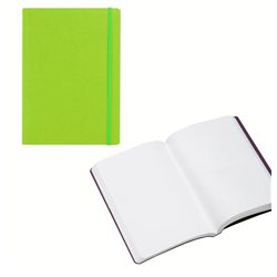 Ноотбук зеленый лаймовый с резинкой А5, 80 листов 85 г/м2