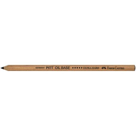 Черный карандаш PITT OIL BASE очень тверд.