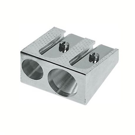 Точилка металлическая с двумя отверстиями
