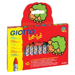 Восковые небьющиеся мелки GIOTTO BEBE Super Modelling Dough