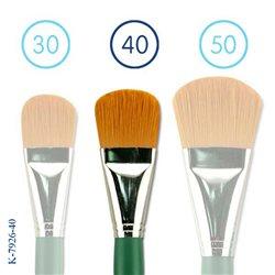 Флейц из синтетики овальной №40/коротк. зелен. ручка