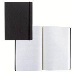 Ноотбук черный с резинкой А5, 80 листов в матречную точку 85 г/м2