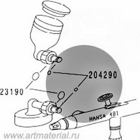 Уплотнение бокового бачка №1 для Hansa 451/481 3шт.
