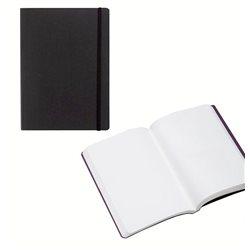 Ноотбук черный с резинкой А5, 80 листов 85 г/м2