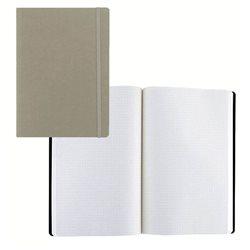 Ноотбук серый с резинкой А5, 80 листов в матречную точку 85 г/м2