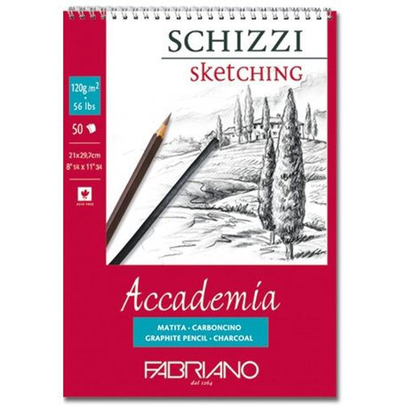 "Альбом д/графики ""SCHIZZI Accademia"" 29,7x42см.50л 120г/спираль"