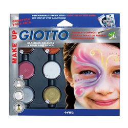 GIOTTO MAKE UP Набор краска карнавальная в баночках 6 цв. в пластиковой коробке