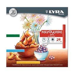 Набор пастель сухая 24 цв.LYRA POLYCRAYON