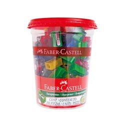 Точилка стандартные и флуоресцентные цвета Faber Castell