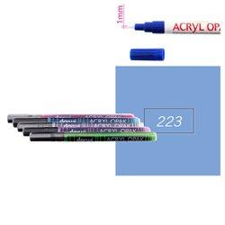 Серо-голубой. Акриловый маркер DARWI Acryl Opak 1мм