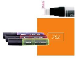 Оранжевый. Акриловый маркер DARWI Acryl Opak 15мм