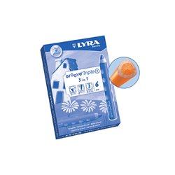 Карандаш цветной 3 в 1 Lyra Groove TripleOne светлый оранжевый