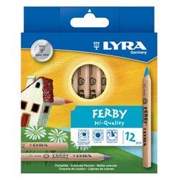 Деревянные карандаши 12 цветов Lyra Ferby Nature