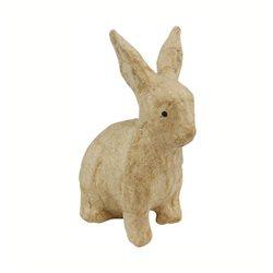 Кролик/ папье-маше/ 4,5х7,5х10,5 см