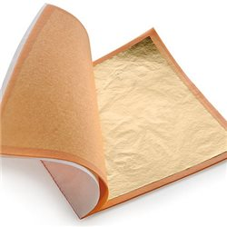 Поталь в листах - имитация золота №2/ 160 х 160 мм 100 листов, блистер