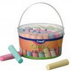Набор мелков для рисования Creall Chalk Havo, 50 шт(6 цветов)/ пластик. ведерко