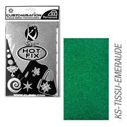 Пленка цветная для создания термопереносимого рисунка на ткань/ изумрудный глиттер,15х20 см