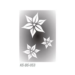 """Трафарет для тату """"Цветы-звезды"""" 7х10 см"""