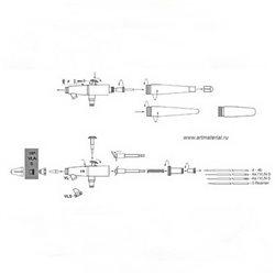 Колпачок иглы №5-1,1мм для Paasche VL,VLS