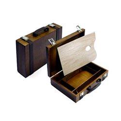 Ящик художника из ореха с кожан. ремешками/22х33 см