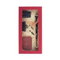 Подарочн.набор с перьями.держателем. промокашкой и чернилами