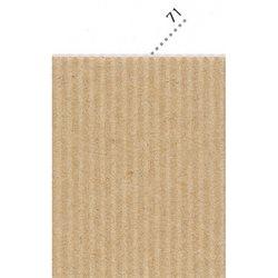 Картон цв. гофриров. крупный 175г/м 200 х 70 см/ крафт