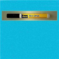 Маркер по текстилю DARWI Tex Opak 6 мл/ Голубой/ круглый. наконечн.