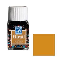 """Краска лаковая прозрачная по стеклу Lefranc Bourgeois """"Vitrail"""" №145 Охра жёлтая/б.50мл"""