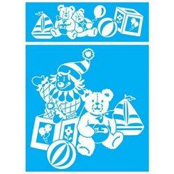 Трафарет для травления стекла 25х35мм/№503 Клоун с мишкой