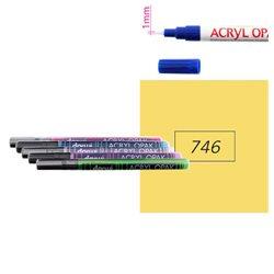Охра желтая. Акриловый маркер DARWI Acryl Opak 1мм