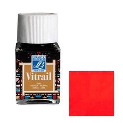"""Краска лаковая прозрачная по стеклу Lefranc Bourgeois """"Vitrail"""" №433 Ярко-красная/б.50мл"""