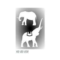 """Трафарет для тату """"Слоны"""" 7х10 см"""