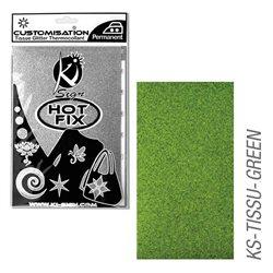 Пленка цветная для создания термопереносимого рисунка на ткань/ зеленый с глиттером,15х20 см