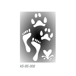 "Трафарет для тату ""Отпечатки ног "" 7х10 см"