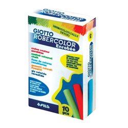 Мел цветной 100% кальций специальная шлифовка и нанесение лака GIOTTO ENROBEE COLORATI GESSI 10 шт