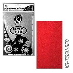 Пленка цветная для создания термопереносимого рисунка на ткань/ красный глиттер,15х20 см